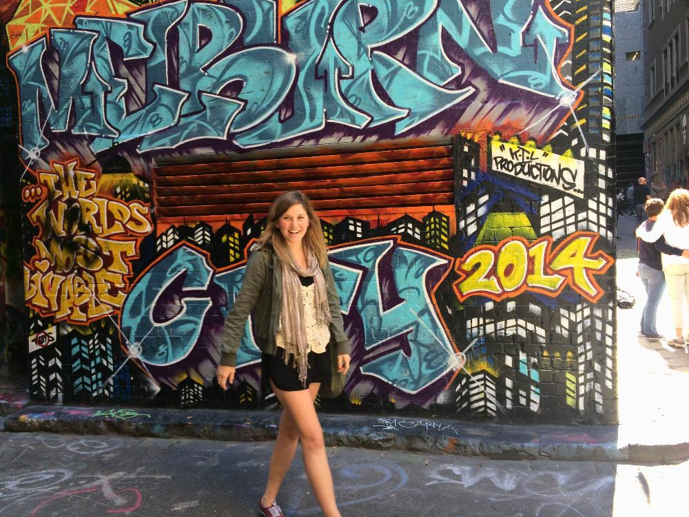 Audrey and the grafitti